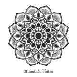 Mandala decorative ornament design. For coloring page, greeting card, invitation, tattoo, yoga and spa symbol. Vector illustration Stock Image