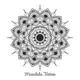 Mandala decorative ornament design. For coloring page, greeting card, invitation, tattoo, yoga and spa symbol. Vector illustration Stock Photography