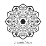 Mandala decorative ornament design. For coloring page, greeting card, invitation, tattoo, yoga and spa symbol. Vector illustration Royalty Free Stock Photo