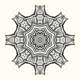 Mandala. Decorative round ornament. stock illustration