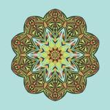 mandala Decorativo abstrato étnico floral Fotografia de Stock