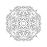 mandala Decorativo astratto etnico floreale Immagine Stock Libera da Diritti