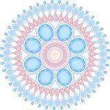 Mandala dei gioielli con l'illustrazione della pietra preziosa immagine stock