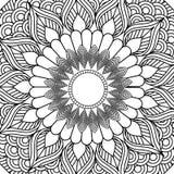 Mandala dekoracyjnego etnicznego elementu kolorystyki dorosły projekt Zdjęcia Royalty Free
