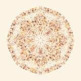 mandala dekorativ elementtappning stock illustrationer