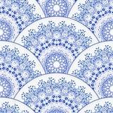 mandala dekorativ elementtappning bakgrund tecknad hand Arkivfoto