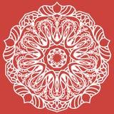 mandala dekorativ elementtappning bakgrund tecknad hand Islam arabiska, indier, ottomanmotiv Arkivfoto