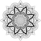 mandala dekorativ elementtappning royaltyfri illustrationer