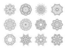 mandala dekorativ prydnad Arkivbilder