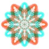 Mandala del color de la acuarela Fotos de archivo
