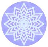 Mandala del color de la acuarela Imágenes de archivo libres de regalías