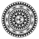 Mandala del contorno Amuleto étnico Foto de archivo libre de regalías