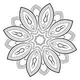 Mandala del contorno para el libro del color Foto de archivo