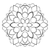 Mandala del contorno para los libros del color imagen monocromática Un p de repetición Imagenes de archivo