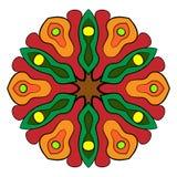 Mandala del contorno para los libros del color Un modelo de repetición en el circ Fotografía de archivo libre de regalías