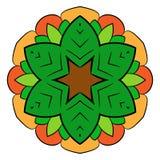 Mandala del contorno para los libros del color Un modelo de repetición en el circ Fotos de archivo