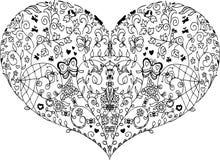 Mandala del cuore della primavera Fotografie Stock