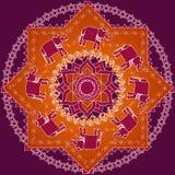 Mandala del elefante stock de ilustración