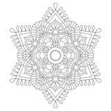 Mandala del esquema para el libro de colorear Modelo antiesfuerzo de la terapia Ornamento redondo decorativo Imagen del vector Fotografía de archivo libre de regalías