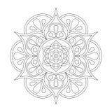 Mandala del esquema para el libro de colorear Modelo antiesfuerzo de la terapia Ornamento redondo decorativo Imagen del vector Fotografía de archivo
