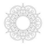 Mandala del esquema para el libro de colorear Modelo antiesfuerzo de la terapia Ornamento redondo decorativo Imagen del vector Imagenes de archivo