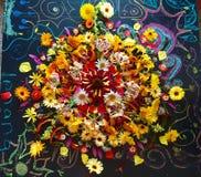 Mandala del fiore di caduta Fotografia Stock