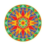 Mandala del fiore di colore di vettore Elemento decorativo etnico Immagine Stock Libera da Diritti
