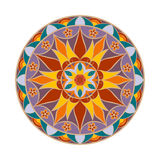 Mandala del fiore di colore di vettore Elemento decorativo etnico Fotografia Stock Libera da Diritti