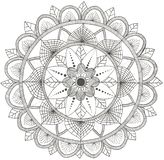Mandala del fiore Elementi decorativi d'annata, modello orientale illustrazione vettoriale