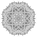 Mandala del fiore Elementi decorativi dell'annata Fotografia Stock Libera da Diritti