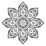 Mandala del fiore Elementi decorativi dell'annata Fotografia Stock