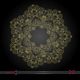 Mandala del fiore Elementi decorativi dell'annata Modello orientale, illustrazione Immagine Stock Libera da Diritti