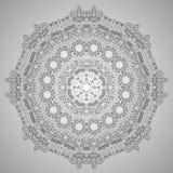 Mandala del fiore Elementi decorativi dell'annata Modello orientale, illustrazione Fotografie Stock Libere da Diritti