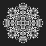 Mandala del fiore Elemento astratto per il disegno Fotografia Stock