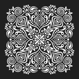 Mandala del fiore Elemento astratto per il disegno Fotografie Stock Libere da Diritti