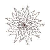 Mandala del fiore del fuoco Progettazione di arte del tatuaggio Modello dell'ornamento del tappeto Vettore per la pagina adulta d illustrazione di stock