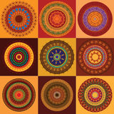 Mandala del hennè di colore Fotografia Stock Libera da Diritti