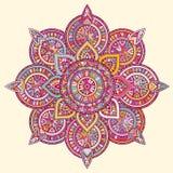Mandala del indio del vector Imagen de archivo