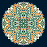 Mandala del indio del vector Fotografía de archivo