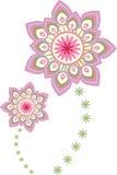 Mandala del modello di fiore illustrazione vettoriale