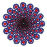 Mandala del monocromo del color del vector Imagenes de archivo