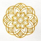 Mandala del oro Imagen de archivo libre de regalías