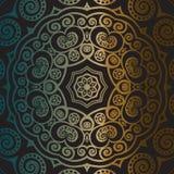 Mandala del oro Fotos de archivo