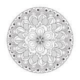 Mandala del profilo per il libro da colorare Ornamento rotondo decorativo Fotografia Stock Libera da Diritti