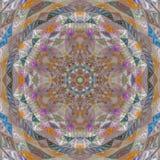 Mandala del remiendo del mosaico de la cometa ilustración del vector