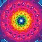 Mandala del sole del Rainbow Immagini Stock Libere da Diritti