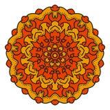 Mandala del vector del color Imagen de archivo libre de regalías