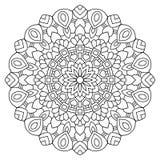 Mandala del vector dibujada con las líneas negras Fotografía de archivo libre de regalías