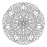 Mandala del vector dibujada con las líneas negras Fotos de archivo libres de regalías