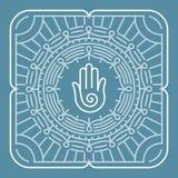 Mandala del vector en estilo del esquema ilustración del vector